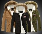Mens Warm Fur Collar Hooded Parka Winter Thick Down Coat Outwear Down Jacket #1