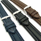 CONDOR 336R Padded Calf Leather Watch Band White Stitching 18mm 20mm 22mm