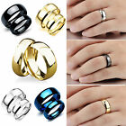 CHIC New Blue/Gold/Black Plated Titanium Steel Engagement Ring Men Women's Band