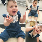 Toddler Kids Baby Girl Summer Clothes Denim Romper Trousers Jeans Jumpsuit Pants