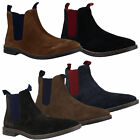 Mens Catesby Pull On Elastic Dealer Chelsea Real Suede Ankle Boots Sizes 7 to 12