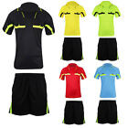 2Pcs Set Men's Soccer Football Referee Jersey Sport Short Sleeve T-Shirts Suit