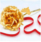 Party/wedding handcrafted 24K 99% Golden Foil Rose Flowers with gift box