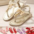 Kids Baby Girls T-Strap Shiny Leather Sandals Ankle Strap Princess Flat Shoe ✿