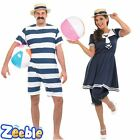 Adult Couples Fancy Dress Old Fashioned Bathing Suit 1920s