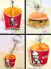 FAST FOOD NECKLACE OR KEYRING BURGER FRIES FRIED CHICKEN KFC MCDONALDS