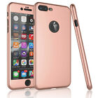 Case Ultra Thin Slim Hard Cover+ Tempered Glass For Apple iPhone 8 6S 7 / 7 Plus фото