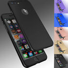 Receptacle Ultra Thin Slim Hard Cover+ Tempered Glass For Apple iPhone 8 6S 7 / 7 Plus