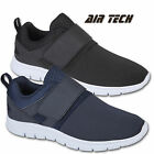 Mens REBEL Trainers Lightweight Touch Fasten Slip On Smart Casual Comfort Shoes