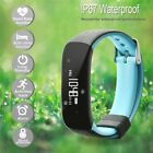 Waterproof Smart Heart Rate Bracelet Watch Sleep Fitness Activity Tracker Lot