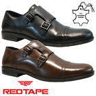 MENS RED TAPE REAL LEATHER CASUAL FORMAL SMART WORK OXFORD BROGUE SHOES SIZE