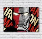Iron Man Movie Poster Print, Marvel, Wall Art, Picture, Home Decor, Office #008