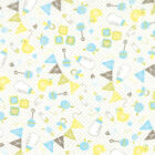 Sweet Baby Quilt Fabric by Abi Hall Rattles Bottles Diaper Pins Premium Flannel