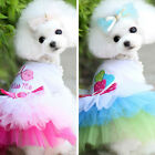 Pet Puppy Small Dog Cat Lace Skirt Princess Tutu Dress Clothes Costume 2 Colors