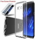 TPU Crystal Clear Cover Full Body Protective Case For Samsung Galaxy S8+/S7 Edge