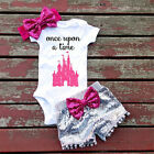 Adorable Baby Girls Top once upon Sequin Rompers Sequin Pants Outfits Clothes