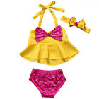 Adorable Baby Girls Tankini Bikini Set Swimwear Swimsuit Bathing Suit Beachwear