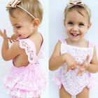 Adorable Baby Girls Lace Floral Romper Jumpsuit Bodysuit Outfits Sunsuit Clothes