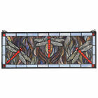 Design Toscano Dragonfly Tiffany-Style Stained Glass Window