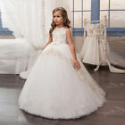 2017 New Lace Flower Girl Dress for Wedding First Communion Dresses Ball Gowns