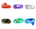 3FT 1M Braided Fabric USB Data Sync Charger Cable Cord Fr Smart Cell iPhone 4 4S