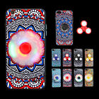 10pcs/lot Hand Spinner Case Led Switch Fidget Spinner TPU Phone Cover for iPhone