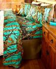 THE WOODS SHEET SET BEDDING FABRIC MICROFIBER CAMO LUXURY HOME BED HOME DECOR