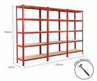 METAL RACKING 3 BAY 5 TIER SHELVING INDUSTRIAL GARAGE WAREHOUSE STORAGE SHELF <br/> SPECIAL PRE ORDER PRICE - NOT FOR IMMEDIATE DELIVERY!