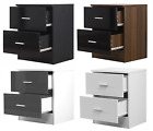 Gloss Fronted 2 Drawer Bedside Table Avail in 4 Colours - REFLECT Bedroom Unit