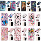 For LG K10 (2017) Relievo 3D Varnish Leather Flip Credit Card Wallet Case Cover