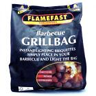 Flamefast Barbecue Grill Bag 1.4kg Instant Lighting Charcoal Briquettes BBQ Fuel
