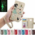 Magnetic Flip Leather Stand Cards Luminous Wallet Case Cover For Motorola Moto