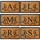 """Monogram Coir 18"""" x 30"""" Doormat By US Decor Natural Outdoor Personalized Letters"""