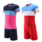Child Men Soccer Football Team Jersey Set Suit Shirt Shorts T-Shirt Short Sleeve