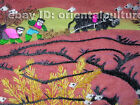 Chinese totally 100% hand-embroidered silk su embroidery art:all topics 20cm/12c