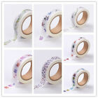 1Roll Colorful DIY Scrapbook Decorative Adhesive Tapes Findings 15mm 10m/roll