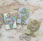 Indi Map Passport Case Travel Card Cash Ticket Boarding Pass Cute Holder Wallet