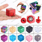 Fidget Hand Square Spinner Metal Cube Desk Toy Focus Gyro EDC Spinning Kid Gifts