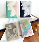 Korea Map Passport Case Travel Card Cash Ticket Boarding Pass Cute Holder Wallet
