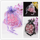 100pcs Organza Bags with Ribbons For DIY Making Jewelry Design Findings 9x7cm