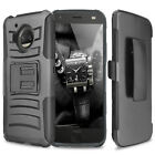 For Motorola Moto Z2 Force/Z2 Play Hybrid Rugged Belt Clip Holster Stand Case