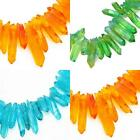 6 pcs Quartz Rock Crystal Neon Coloured Stick Beads for Jewellery Making