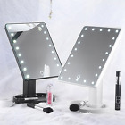 22 LED Touch Screen Makeup Mirror 360° Tabletop Cosmetic Vanity Light Up Mirror