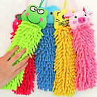 Microfiber Hanging Wipe Towel Soft Cartoon Animal Hand Towel Absorbent Water Dry