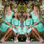 Mother And Daughter Matched Cotton Boho Mini Dresses Women Girls Holiday Dresses
