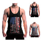 New Arrival Style Men's America Flag Athletic Tank Top For Gym Exercise Sport