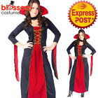 CA334 Ladies Vampiress Dracula Horror Halloween Goth Fancy Dress Party Costume