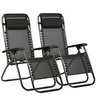 New Zero Gravity Chairs Case Of 2 Lounge Patio Chairs Outdoor Yard Beach O85