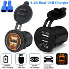 12V Car Cigarette Lighter Socket Splitter Dual USB Charger Power Adapter Outlet <br/> Dual USB 4.2A Fast Charge✔5 Color for Choice✔US SHIP✔