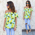 Fashion Women Ladies Summer Off Shoulder Shirt Loose Casual Blouse Tops T-Shirt